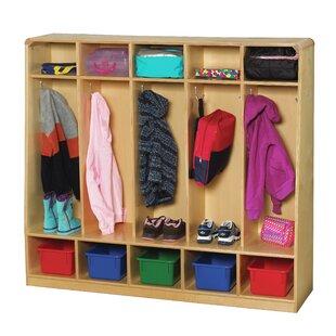 Compare 5 Section Preschool Locker ByKorners for Kids