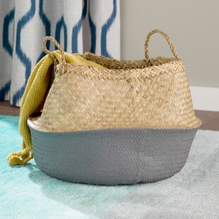 Contemporary Seagrass Basket with Handles byMercury Row