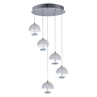 Burroughs 5-Light Cluster Pendant by Orren Ellis