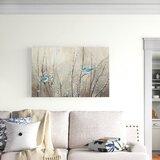 'Pretty Blue Birds' - Print on Canvas