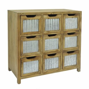 Arpita Wood Metal 9 Drawer Accent Chest by Gracie Oaks