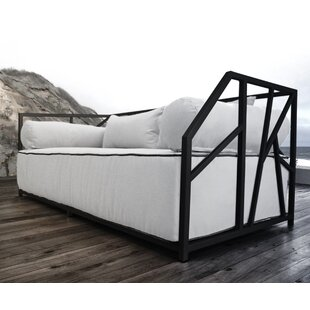 Brayden Studio Snydertown Deep Seated Patio Modern Daybed with Cushions