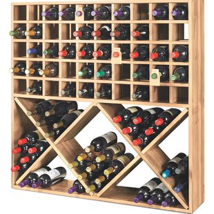 Jumbo Bin Grid 100 Bottle Floor Wine Rack..