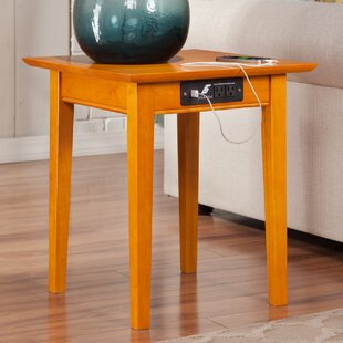 Gentil Side Table Charging Station | Wayfair