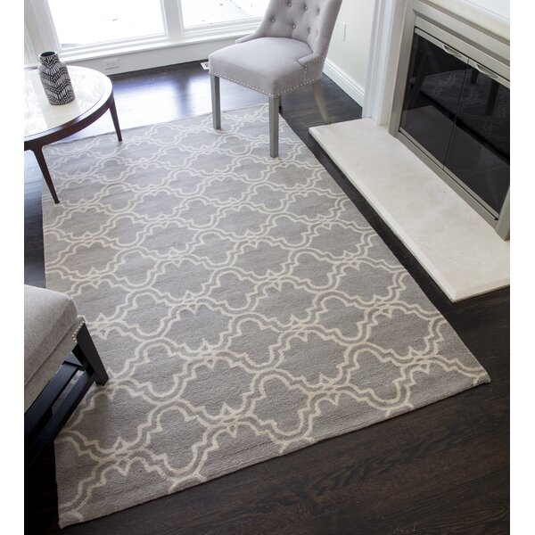 Darby Home Co Blondelle Geometric Handmade Tufted Wool Slate Area Rug Reviews Wayfair