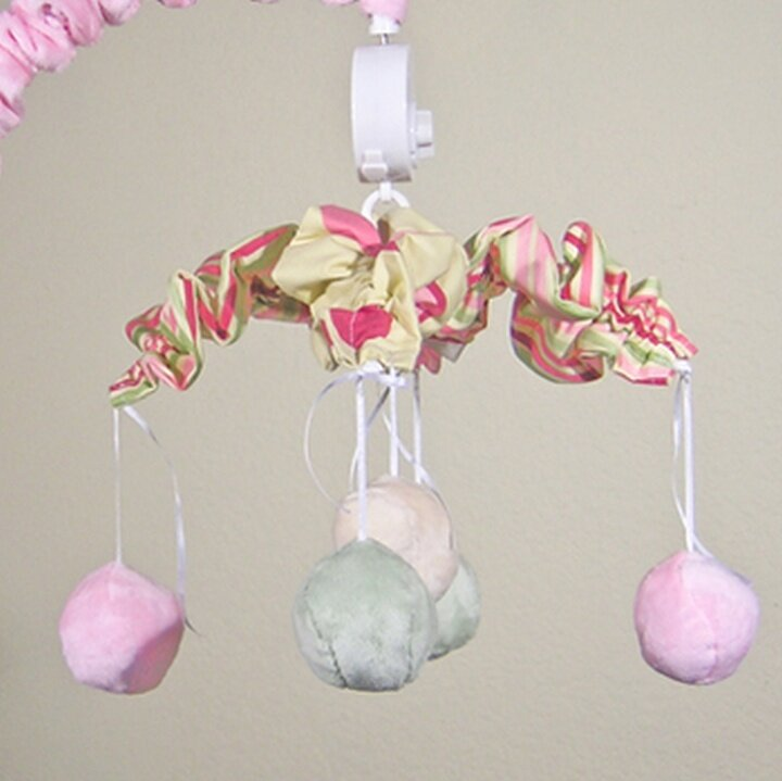 Minky Bubbles Musical Mobile