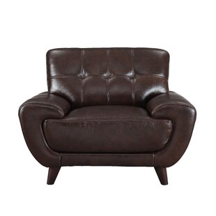 Sterns Leather Club Chair by Brayden Studio