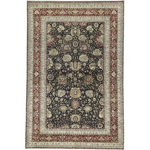 Compare One-of-a-Kind Sona Handwoven 12'2 x 18'1 Wool Black/Beige Area Rug By Bokara Rug Co., Inc.