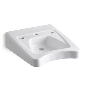 Big Save Morningside Ceramic 20 Wall Mount Bathroom Sink with Overflow By Kohler