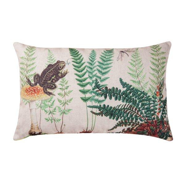 Bloomsbury Market Hickerson Fern Frog Indoor Outdoor Lumbar Pillow Reviews Wayfair