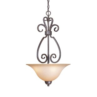 Fleur De Lis Living Nettie 3-Light Bowl Pendant
