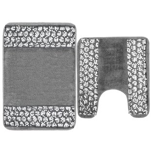Cantu Bedazzled Bling Bath Rug Set