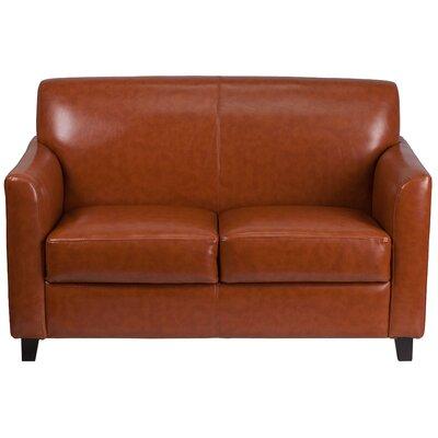 Fine Red Barrel Studio Letcher Diplomat Series Leather Loveseat Machost Co Dining Chair Design Ideas Machostcouk