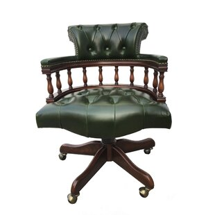 Eastern Legends Genuine Leather Office Chair (Set of 3)