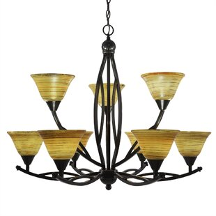 Fleur De Lis Living Blankenship 9-Light Shaded Chandelier