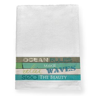Black Raven Ocean Rules 100% Cotton Bath Towel by Highland Dunes