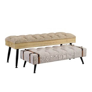 Williston Forge Quentin 2 Piece Upholstered Bench Set