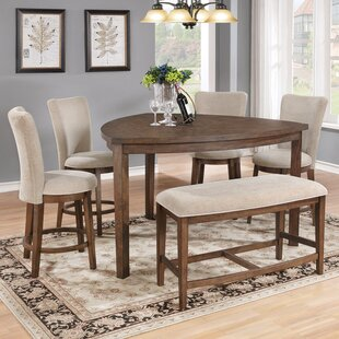 Bench Counter Height Kitchen & Dining Room Sets You\'ll Love | Wayfair
