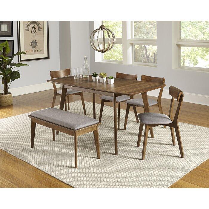Rockaway 6 Piece Extendable Solid Wood Dining Set