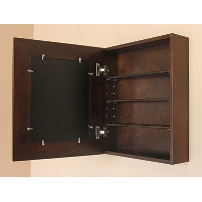 "16.88"" W x 19.88"" H Wall Mounted Cabinet Concealed Cabinet Finish: Coffee Bean"
