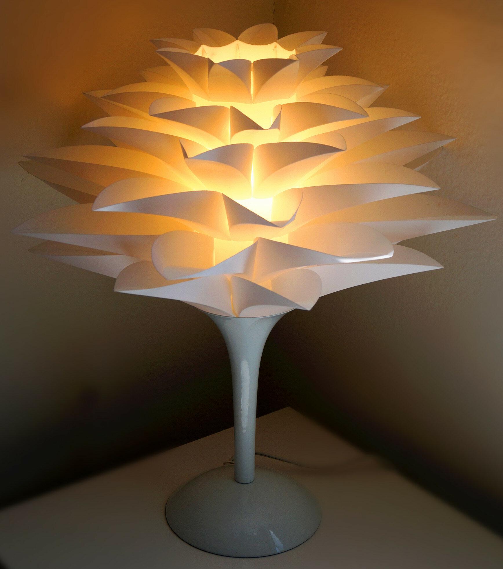 Californialighting Noble Spark Lotus Flower 177 Table Lamp Wayfair