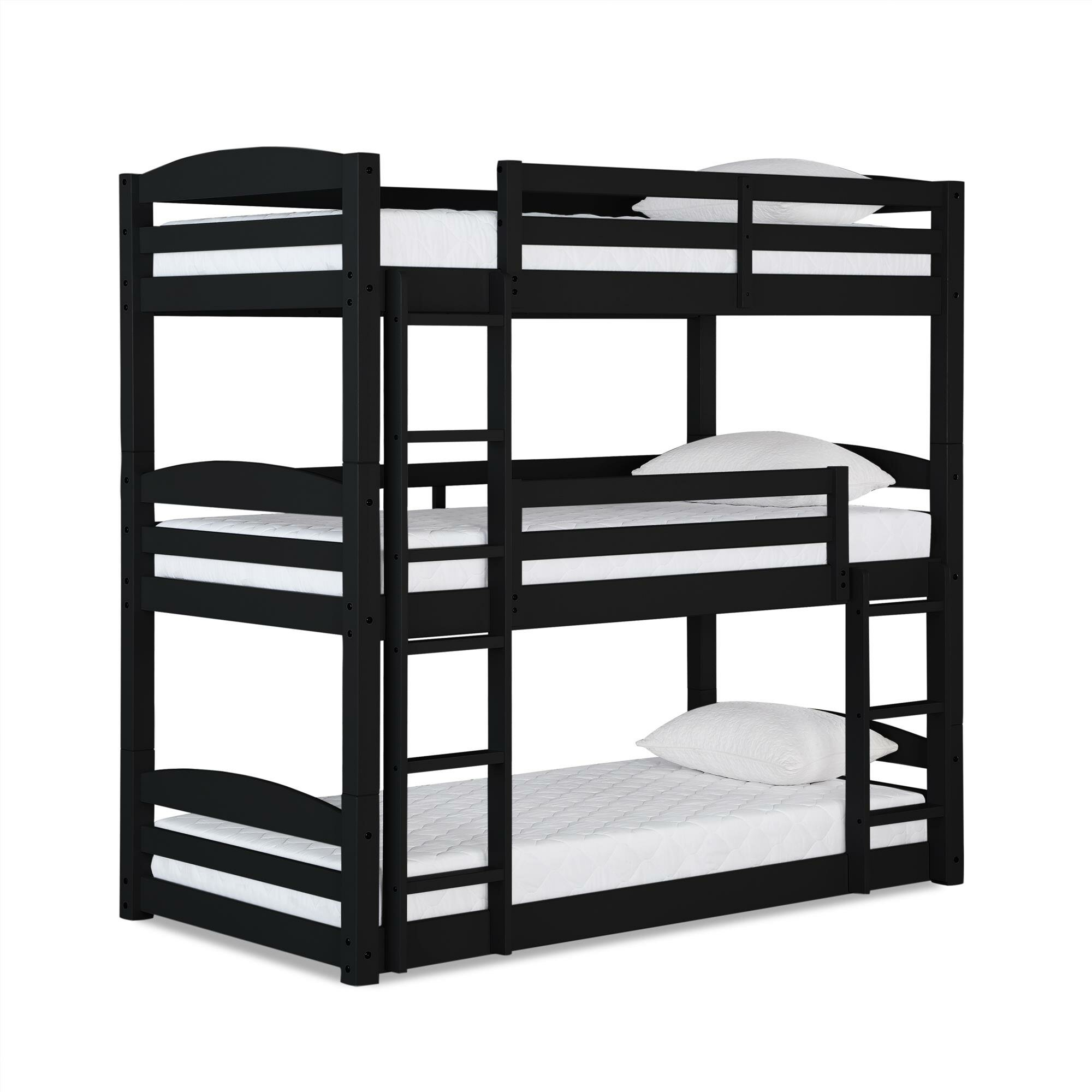 Picture of: Black Wood Bunk Beds You Ll Love In 2020 Wayfair