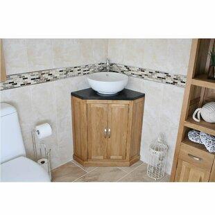 Deloatch Solid Oak 550mm Free-Standing Vanity Unit By Belfry Bathroom