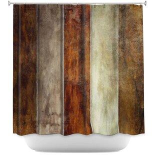 Earth Shower Curtain ByEast Urban Home