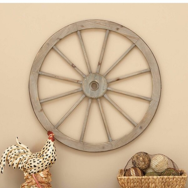 August Grove Metal Wagon Wheel Wall