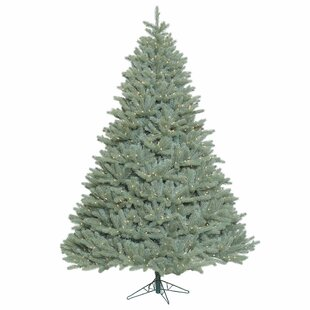 10 blue spruce artificial christmas tree with 1850 clear lights