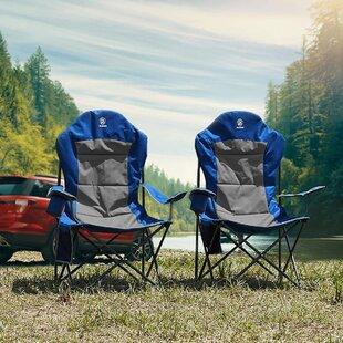 ARROWHEAD OUTDOOR Portable Folding Camping Quad Chair w//Added Ultra-Comfortab...