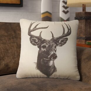 Bryant Whitetail Deer Print Throw Pillow
