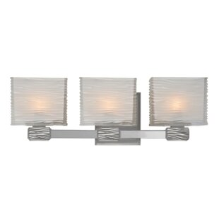 Latitude Run Carnell 3-Light Vanity Light
