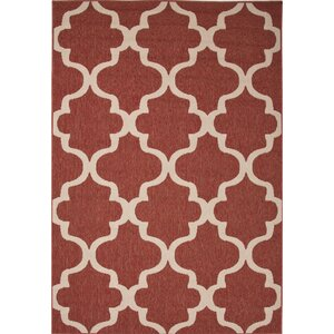 Williamsburg Red/Ivory Indoor/Outdoor Area Rug