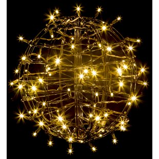 The Holiday Aisle Grapevine Fold Flat Sphere Light with 75 LED Lights
