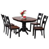 Maryrose 5 Piece Wood Dining Set with Butterfly Leaf Table by Darby Home Co