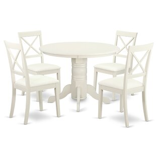 Sherlock 5 Piece Solid Wood Dining Set by..