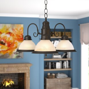 Andover Mills Peatman 3-Light Shaded Chandelier