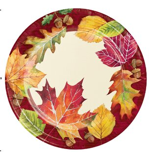 Tova Leaves Paper Appetizer Plate (Set Of 24) by The Holiday Aisle Cool
