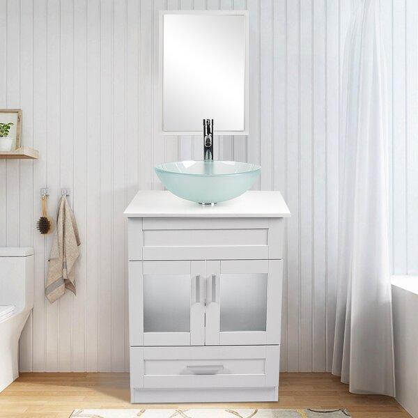 Latitude Run Chabon 24 Single Bathroom Vanity Set With Mirror Reviews Wayfair