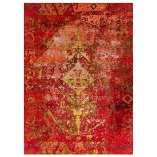 Michaella Kermin Red Indoor/Outdoor Area Rug