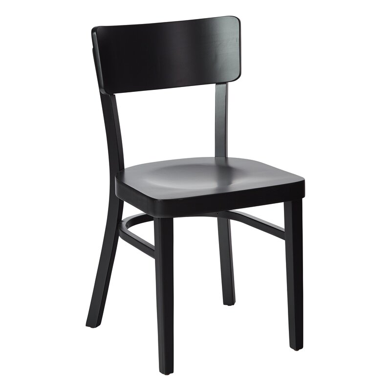 Gracie Oaks Aghen Solid Wood Side Chair (Set of 2)