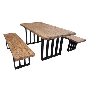 Outdoor Table And Bench Set | Wayfair