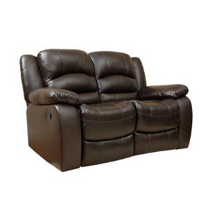 Superb Jorgensen Leather Reclining Loveseat Bralicious Painted Fabric Chair Ideas Braliciousco