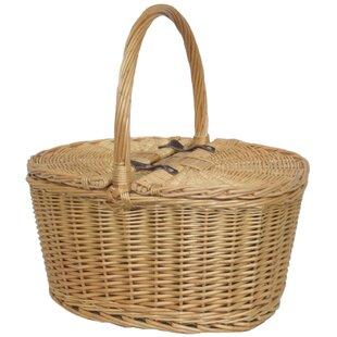 Buff Oval Picnic Basket By Brambly Cottage
