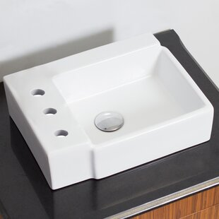 Read Reviews Ceramic Rectangular Vessel Bathroom Sink By American Imaginations