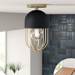 Kater 1-Light Semi Flush Mount by Mercury Row