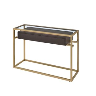 Everly Quinn Danyel Glass Console Table