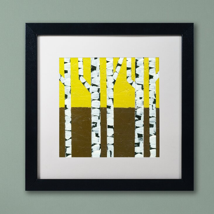 Trademark Art Seasonal Birches Fall By Michelle Calkins Framed Painting Print Wayfair