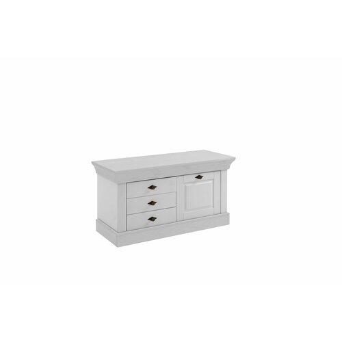 Falkville Wood Storage Bench Brambly Cottage Colour: White
